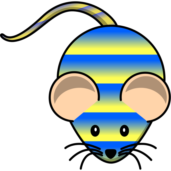 Striped Mouse PNG Clip art