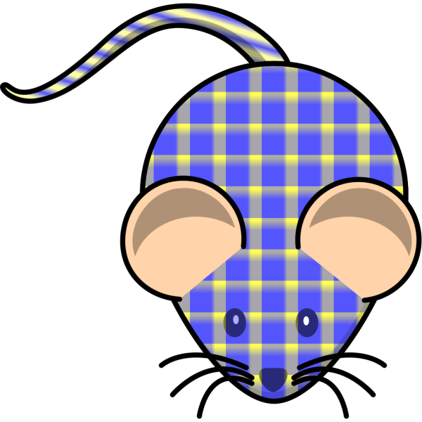 Plaid Mouse PNG Clip art
