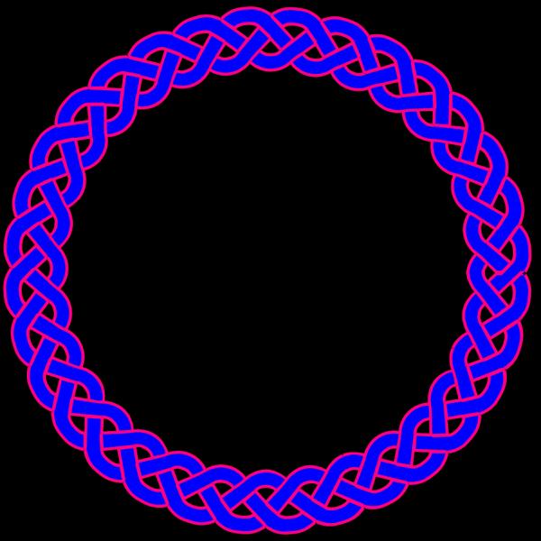 Blue & Pink Celtic Knot PNG Clip art