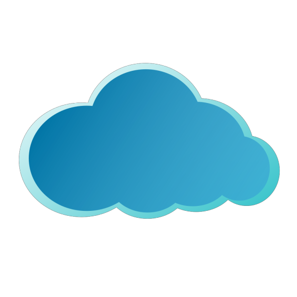 Blue Cloud PNG icons