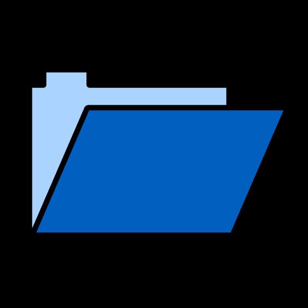 Blue Folder Lite PNG Clip art