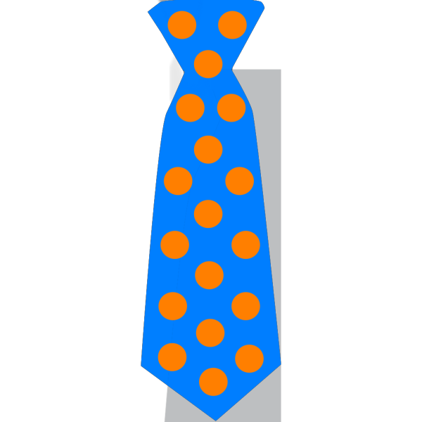 Blue Tie With Polka Dots PNG Clip art
