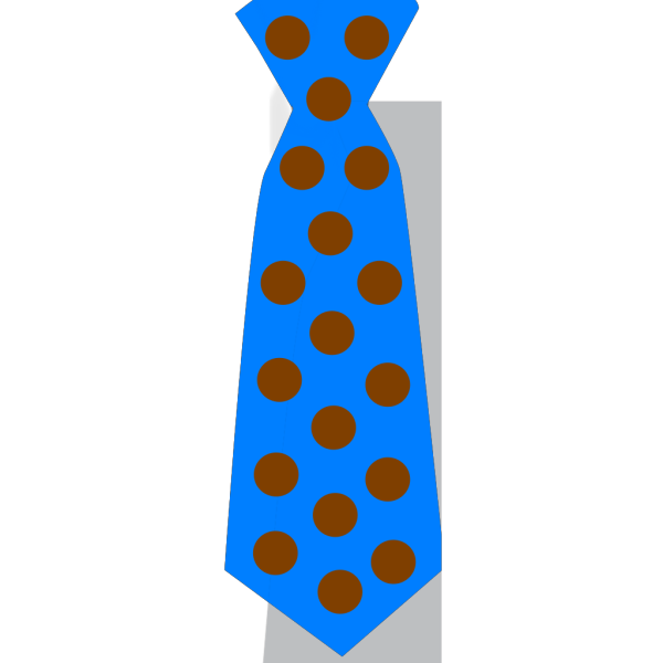 Blue Tie With Brown Polka Dots PNG Clip art