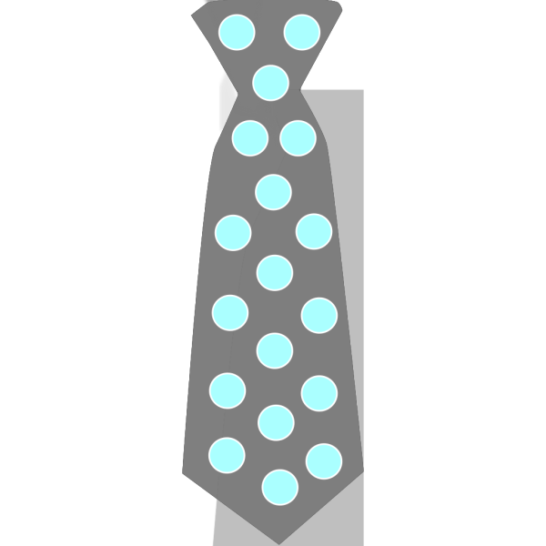 Gray Tie With Blue Polka Dots PNG Clip art
