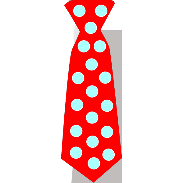 Red Tie With Blue Polka Dots PNG Clip art