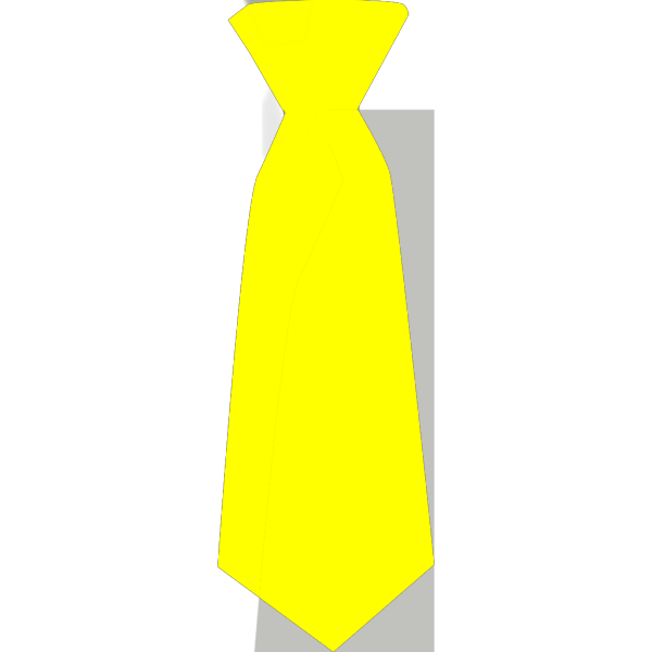 Yellow Tie With Blue Polka Dots PNG Clip art