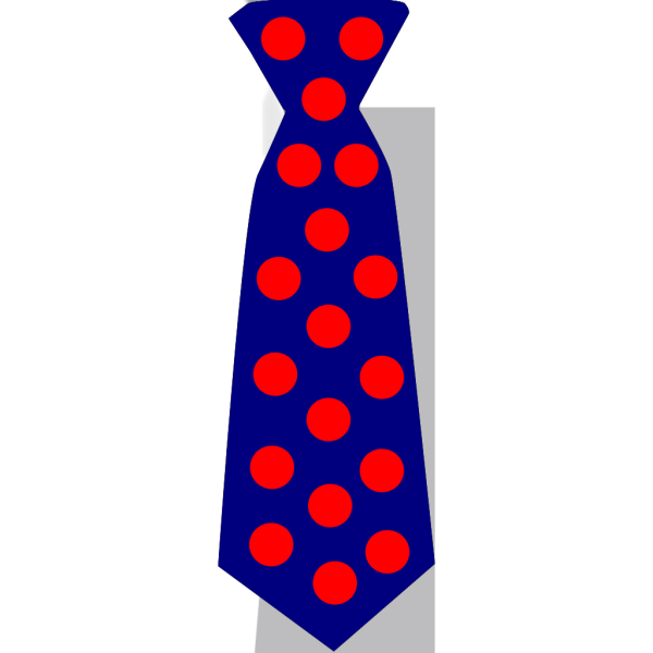 Navy Blue Tie With Red Polka Dots PNG Clip art