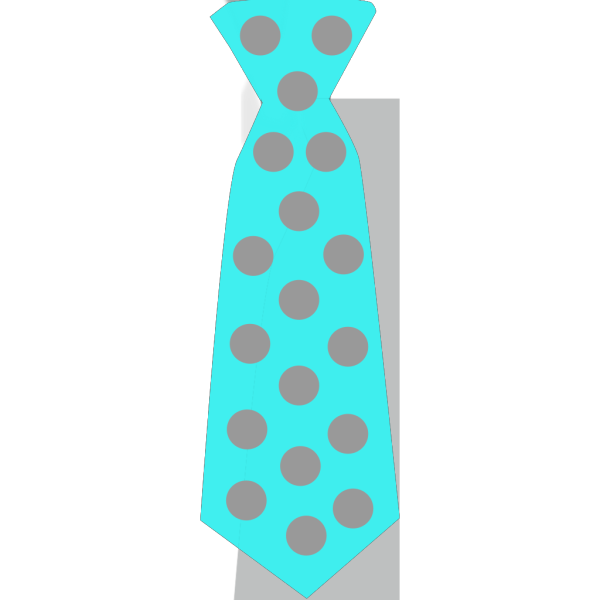 Blue Tie With Gray Polka Dots PNG Clip art