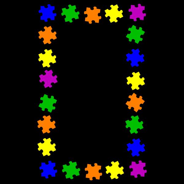 Puzzle Border PNG Clip art