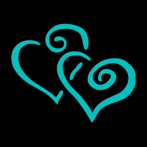 Blue Hearts PNG Clip art