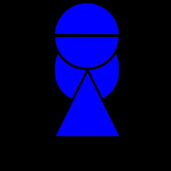 Blue Girl Gook PNG Clip art