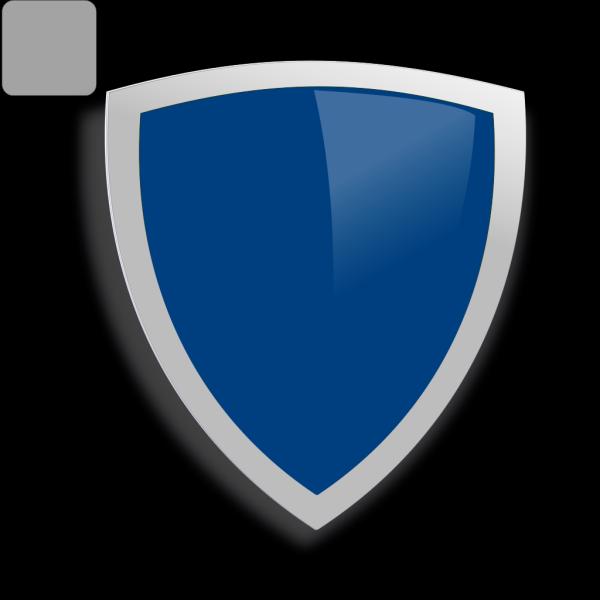 Blue Edged Shield PNG Clip art