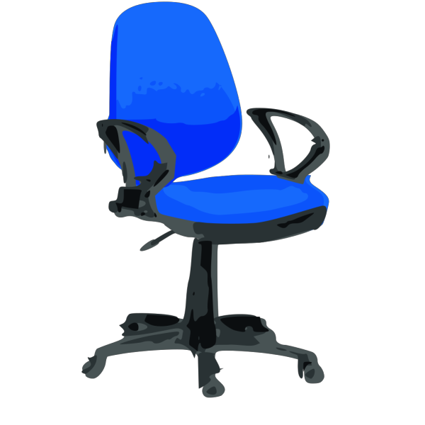 Blue Desk Chair With Wheels PNG Clip art