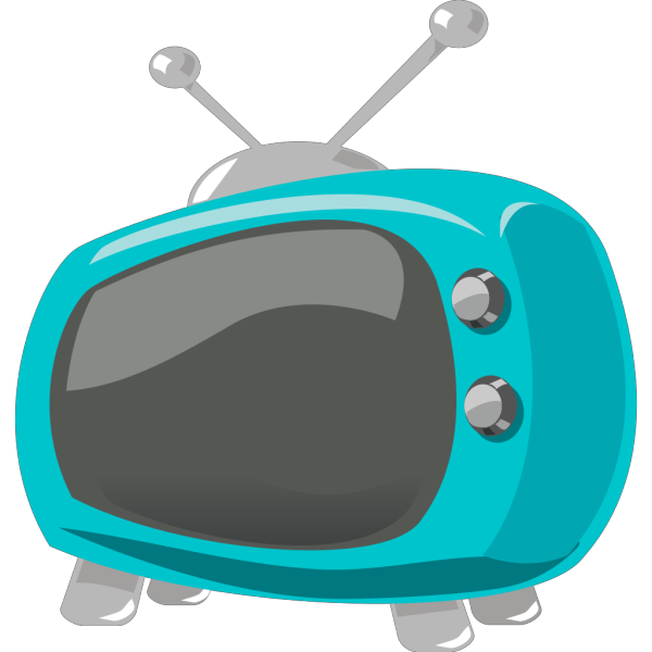 Blue Retro Television PNG images
