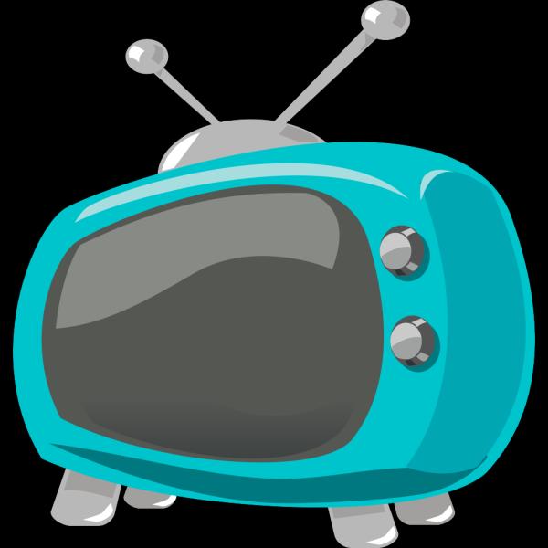 Blue Retro Television PNG Clip art