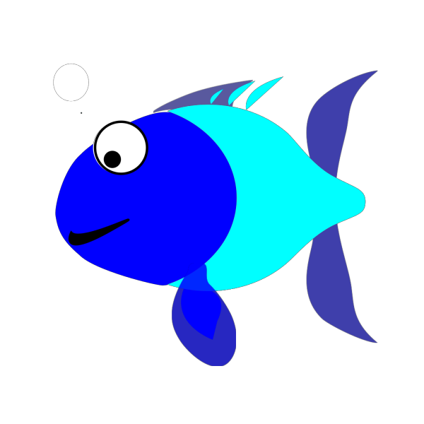 Blue And Turquoise Fish PNG Clip art