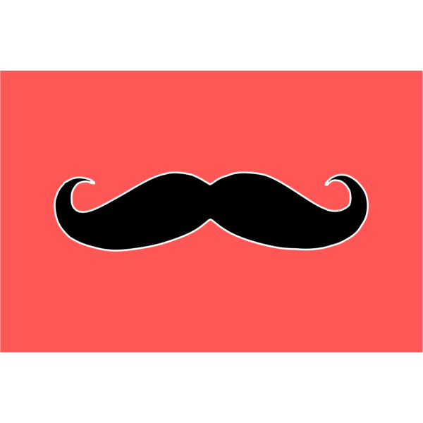 Blue Mustache PNG icons
