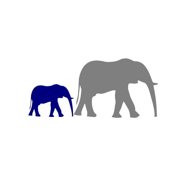 Mother And Baby Elephant  PNG Clip art