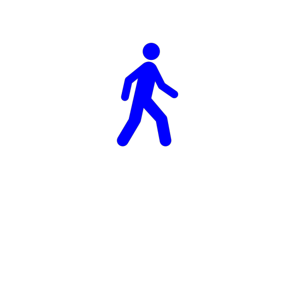 Walking Man Blue PNG Clip art