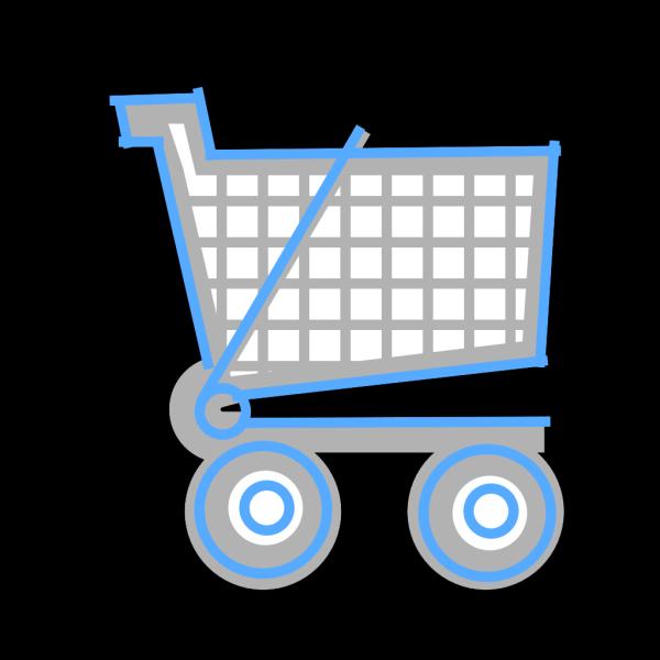 Small Blue Cart PNG Clip art