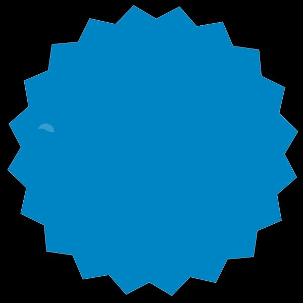 Blue Plain Sticker PNG Clip art