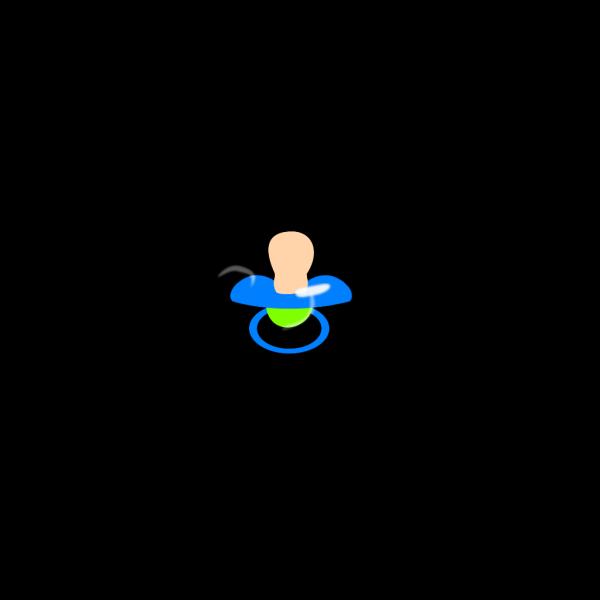 Blue Pacifier PNG Clip art