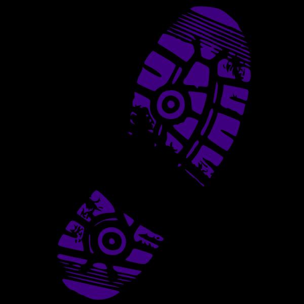 Shoe Print Blue PNG Clip art