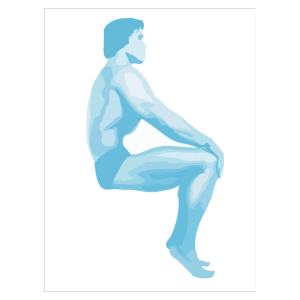 Sitting Body Builder PNG Clip art