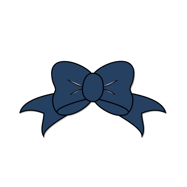 Dark Blue Bow PNG icons