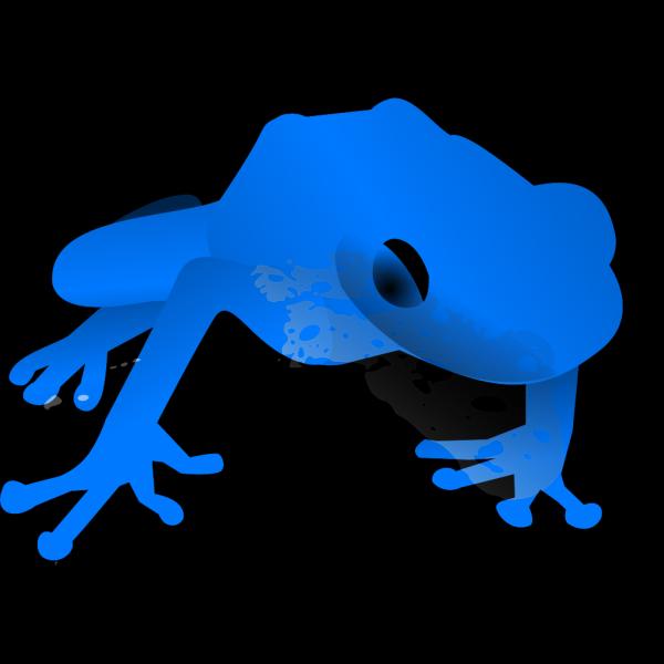Endangered Blue Poison Dart Frog PNG images