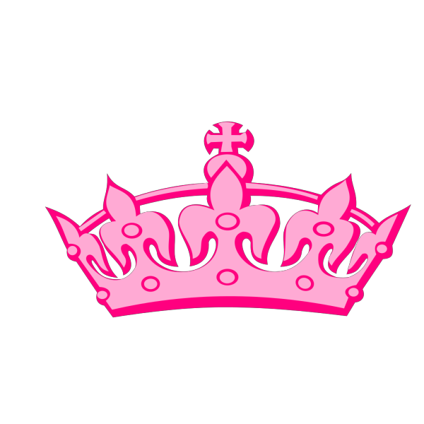 Pink Tilted Tiara And Number 13 PNG Clip art