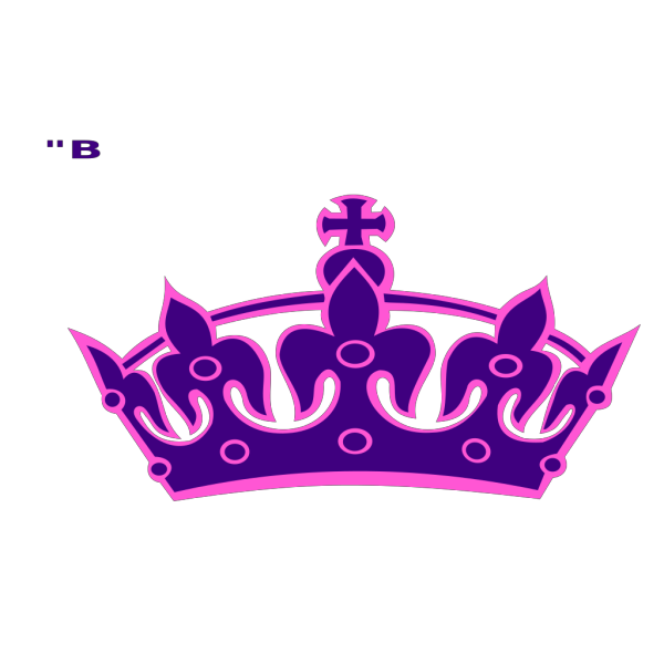 Pink Tilted Tiara And Number 14 PNG Clip art