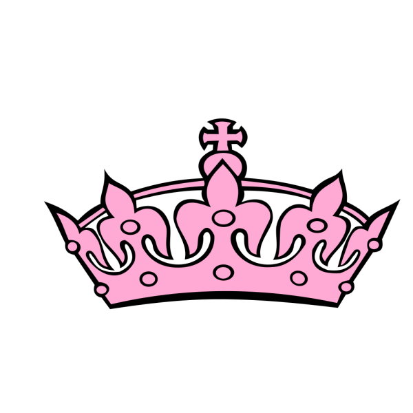 Pink Tilted Tiara And Number 27 PNG Clip art