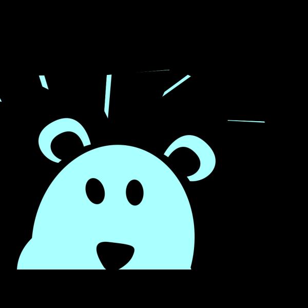 Cute Blue Lion PNG Clip art