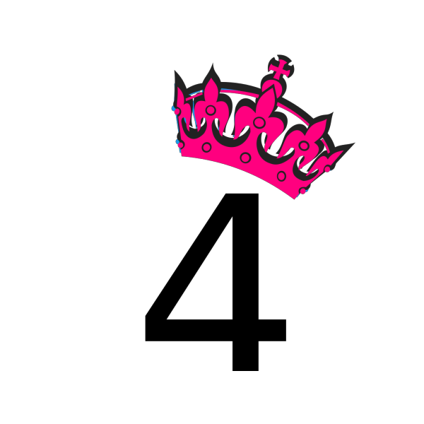 Pink Tilted Tiara And Number 40 PNG Clip art