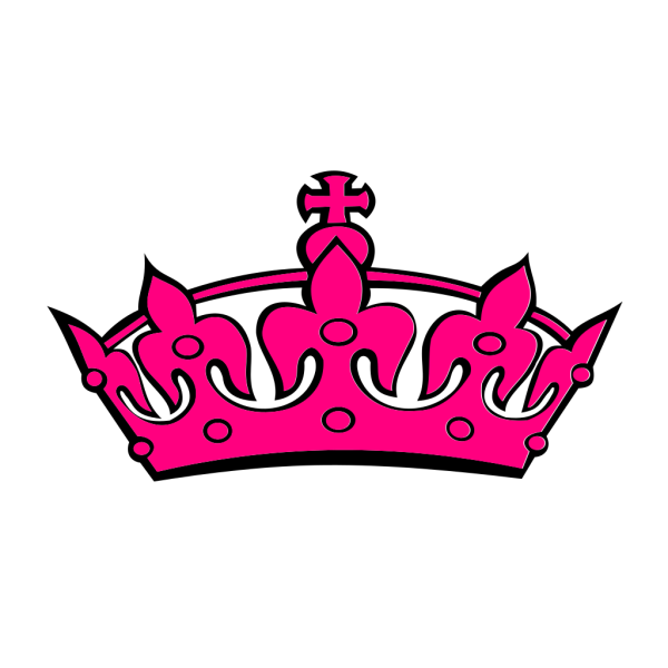 Pink Tilted Tiara And Number 47 PNG Clip art