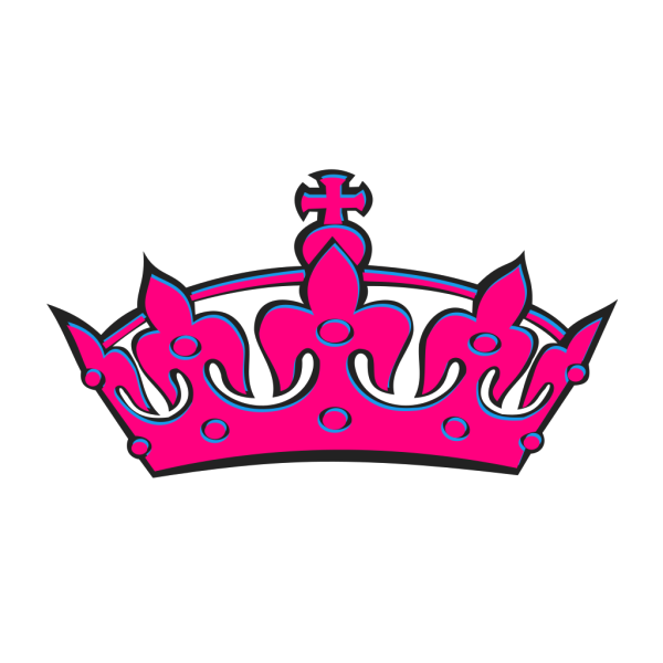 Pink Tilted Tiara And Number 48 PNG Clip art