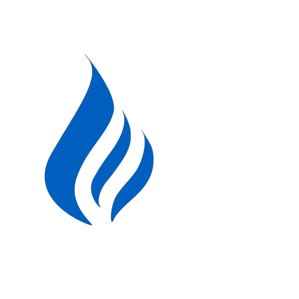 Blue Flame Logo PNG Clip art