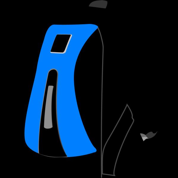 Blackbluebackpack PNG Clip art