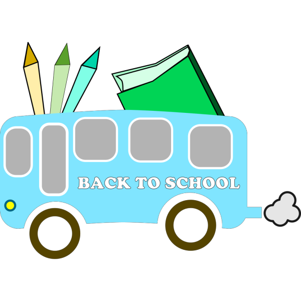 Back To School Blue Green PNG Clip art
