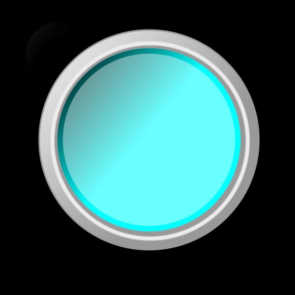 Push Button Light Blue PNG Clip art