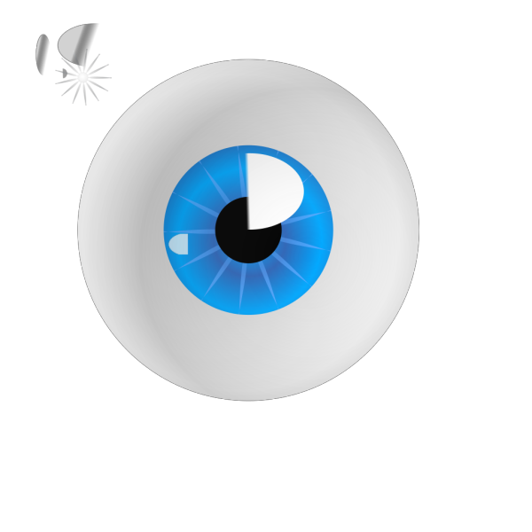 Eyeball Blue Realistic PNG Clip art