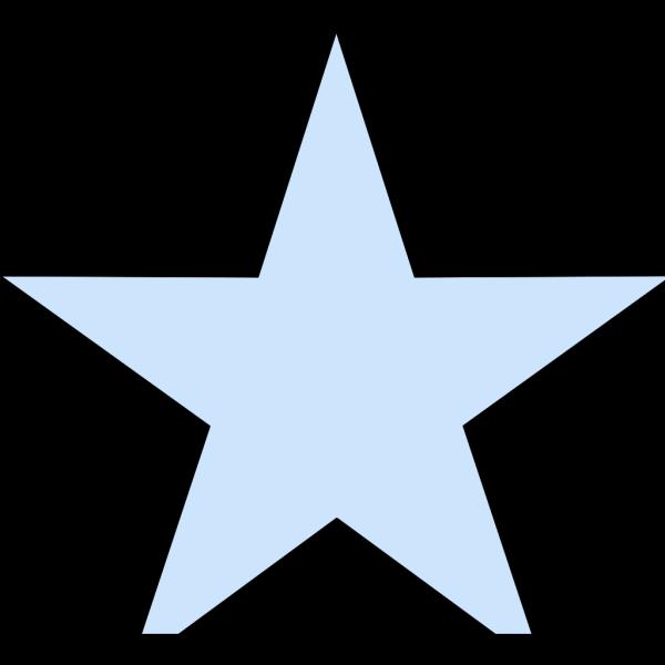 Light Blue Star PNG Clip art