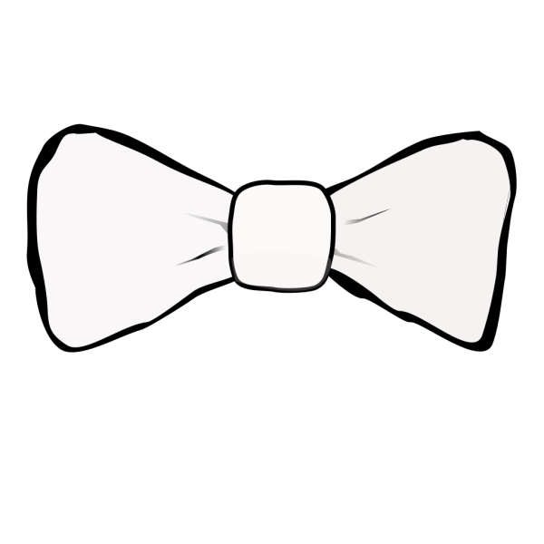 Bow Tie White PNG Clip art