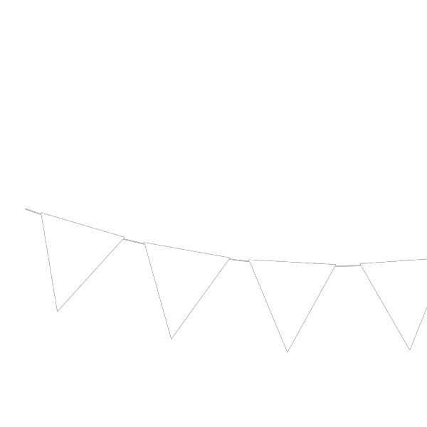 Blue White Bunting PNG Clip art