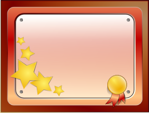 Certificate Medal Colored PNG images