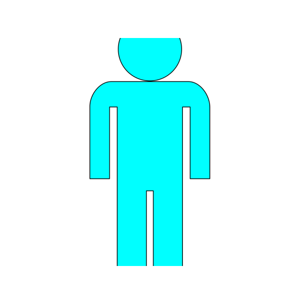 Body Icon Light Blue 2 PNG Clip art