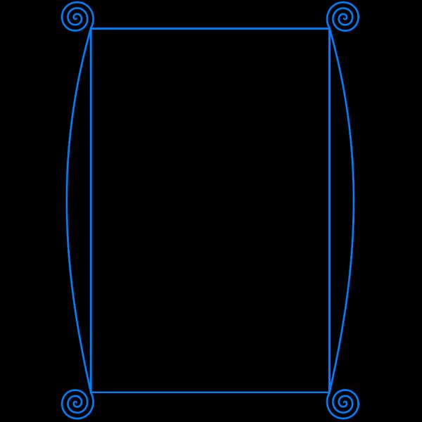 Blue Border Frame PNG Clip art