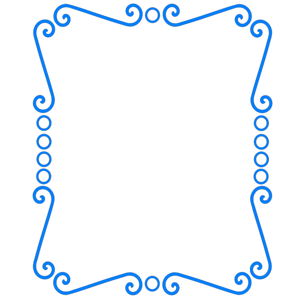 Scrolly Frame Blue PNG Clip art