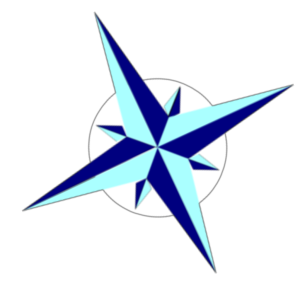 Angled Compass Star  PNG Clip art